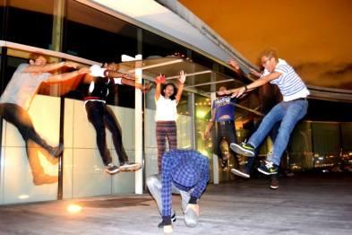 Jumping superpower shot