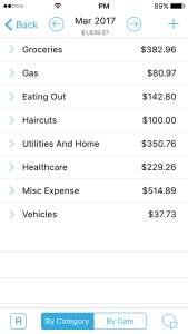 HomeBudget Expenses detail page