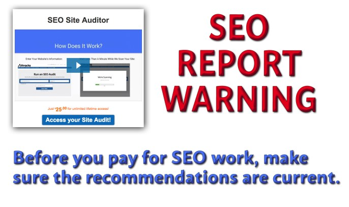 Beware the Nemesis of False and Old Hat SEO Reports