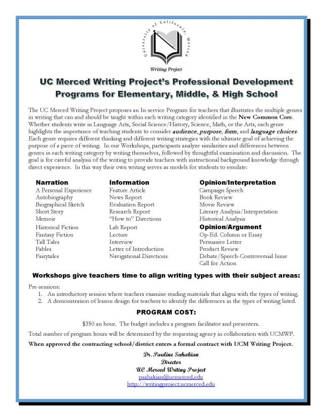 Professional Development for Elementary, Middle and High School