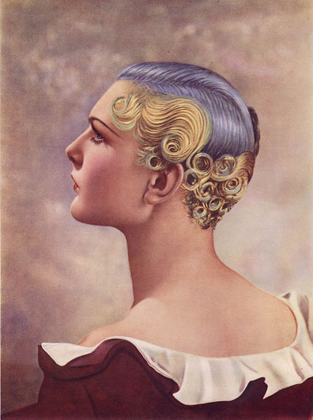 Winning entry, Hairdressing Fashion Exhibition, London, 1935, by Louis Calvete