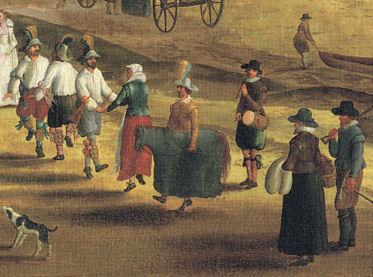 Morris dancers, Thames at Richmond, 1620