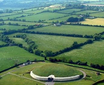 Newgrange today, aerial view