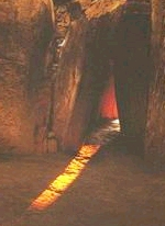 The first solstice rays enter Newgrange