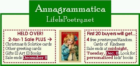 Annagrammatica Holiday Sale Ad