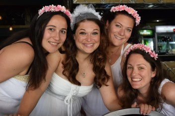 The bride and her ladies in waiting, aka Peace Corps bridesmaids.