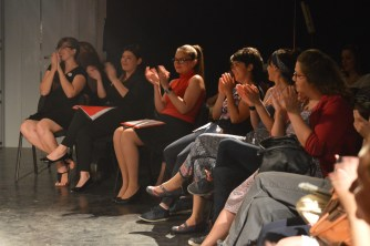 All the performers were among the audience, giving the show a really intimate feel.