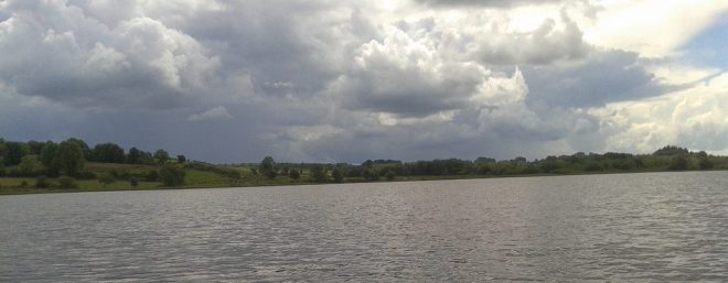 Lough Nabelwy looking towards the Leitrim bank from the Longford Bank