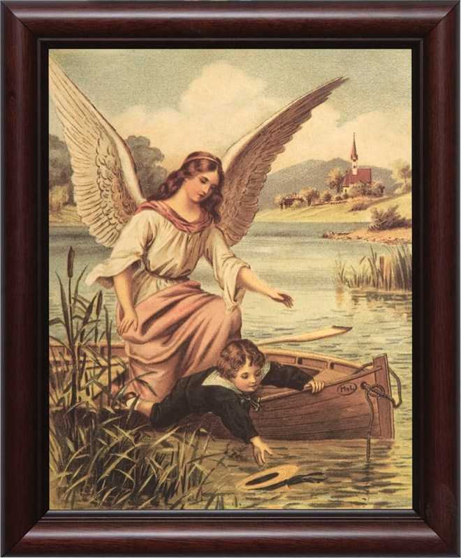 The Catholic belief in guardian angels is lost in modern new age thinking of Angel Card Readings.