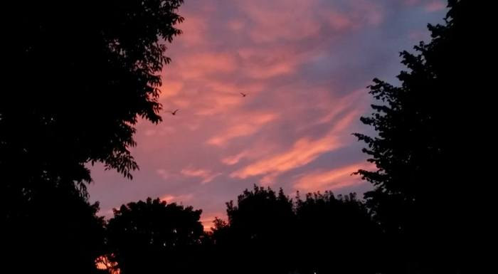Red Dawn - A crimson sky over Ballybrit heralds a rainy day according to folklore