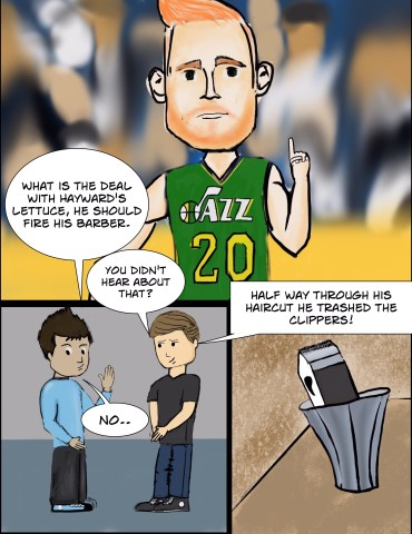 Hayward's hair is explained.