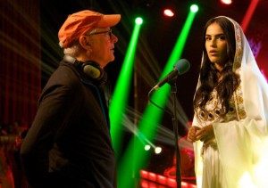 Rock the Kasbah - Behind the scenes photo of Barry Levinson & Leem Lubany