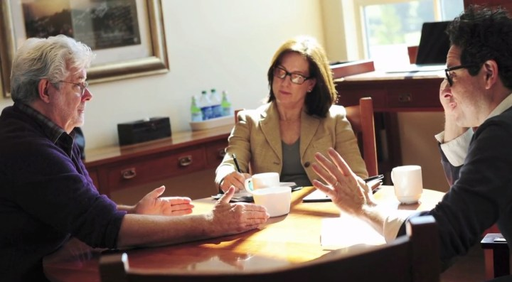 George Lucas, Kathleen Kennedy and JJ Abrams