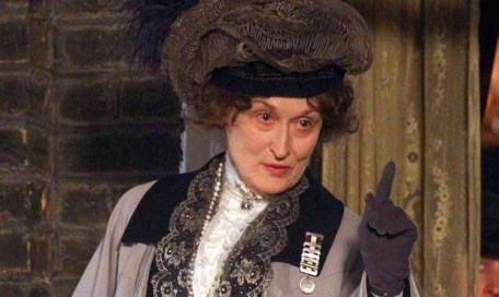 51364113 First images of actress Meryl Streep playing Emmeline Pankhurst in 'Suffragette' filming in London, UK on March 24, 2014. Pankhurst (1858 - 1928) was a British political activist and leader of the British Suffragette movement.  FameFlynet, Inc - Beverly Hills, CA, USA - +1 (818) 307-4813 RESTRICTIONS APPLY: USA ONLY