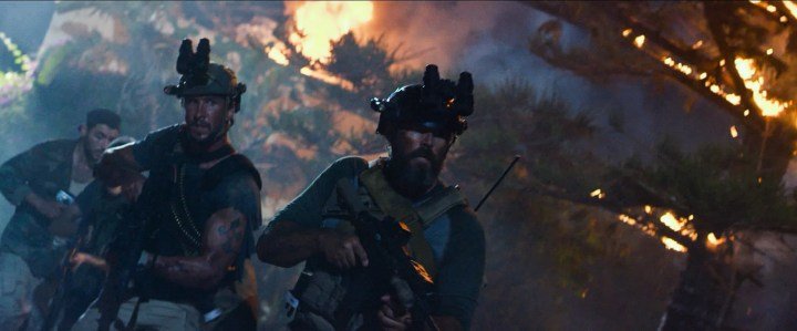 """Left to right: Pablo Schreiber plays Kris """"Tanto"""" Paronto and David Denman plays Dave """"Boon"""" Benton in 13 Hours: The Secret Soldiers of Benghazi from Paramount Pictures and 3 Arts Entertainment / Bay Films in theatres January 15, 2016."""