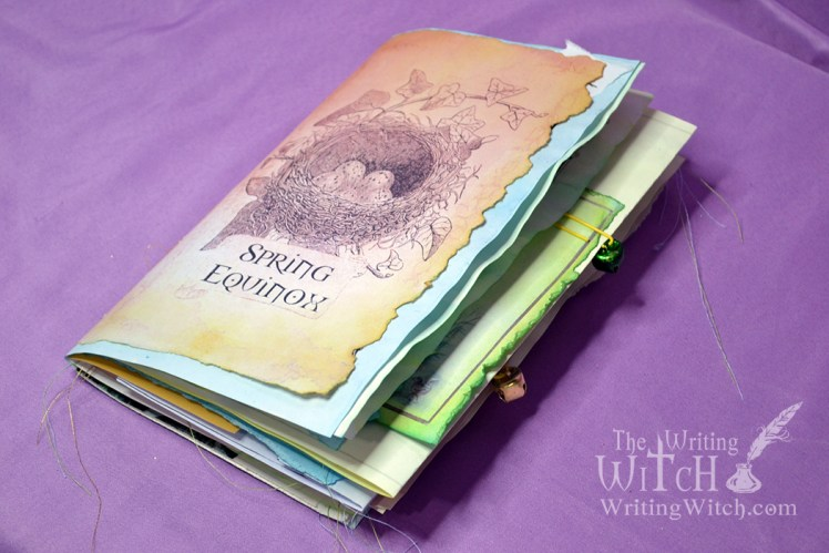 pagan wheel of the year junk journal for spring equinox
