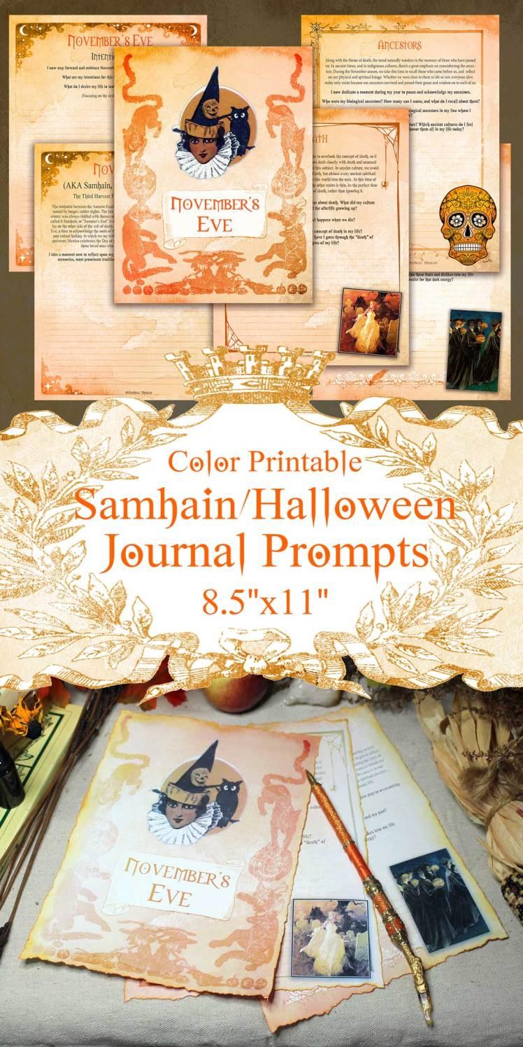 samhain printable journal prompts