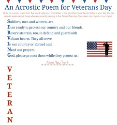 Veterans Day Acrostic Poem--Middle School Writing Prompt [ 1024 x 819 Pixel ]