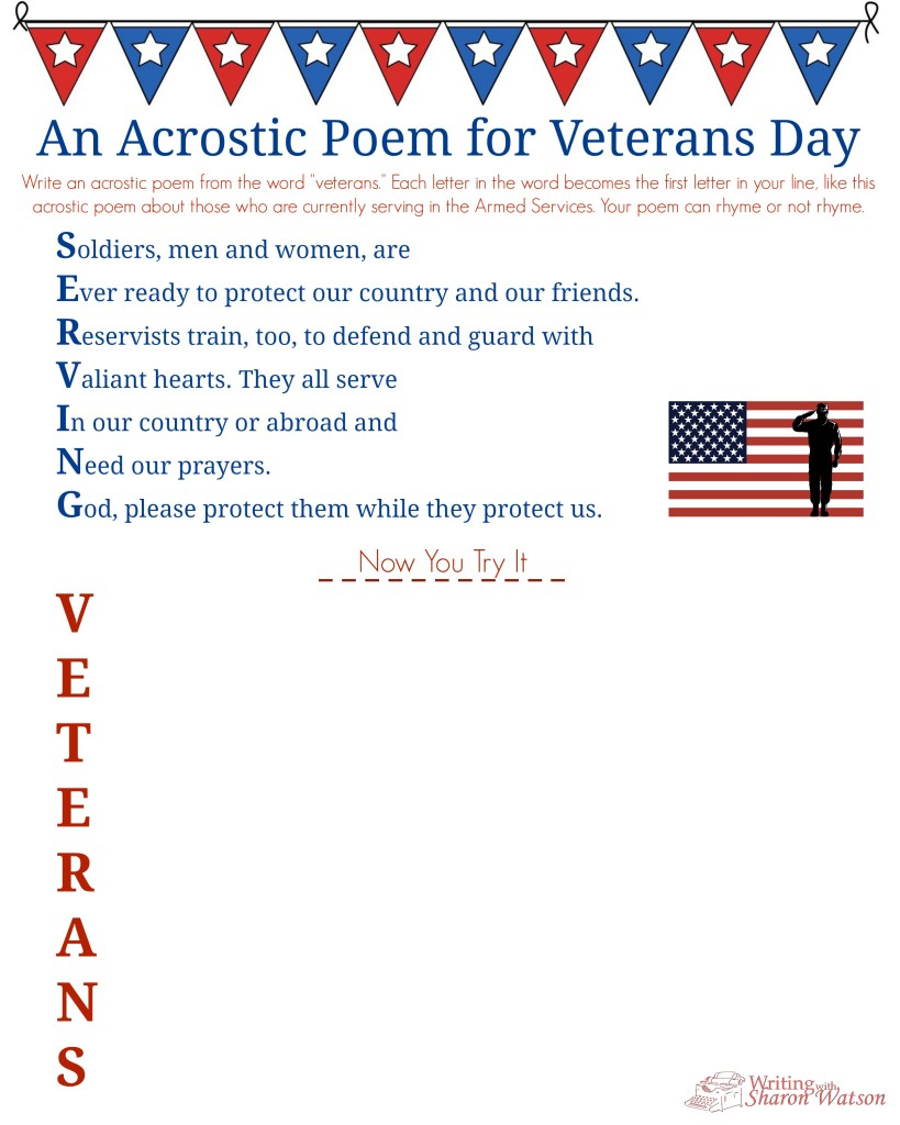 hight resolution of Veterans Day Acrostic Poem--Middle School Writing Prompt