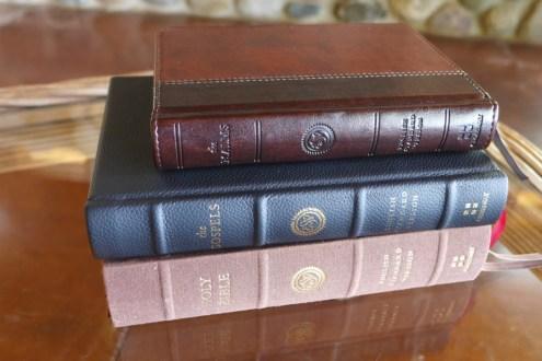 Top down: ESV Psalms, Reader's Gospels, Reader's Bible