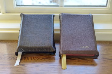 HCSB (left) and Allan ESV Compact (right)