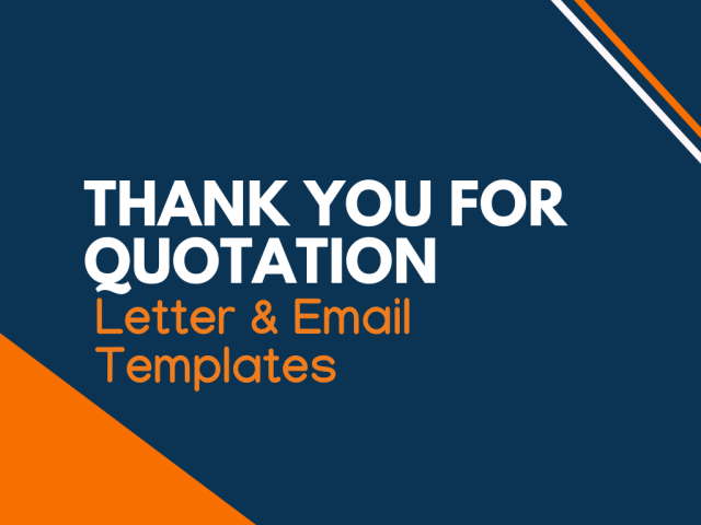 Thank you for Quotation: 17 Letters & Email Templates - Writolay