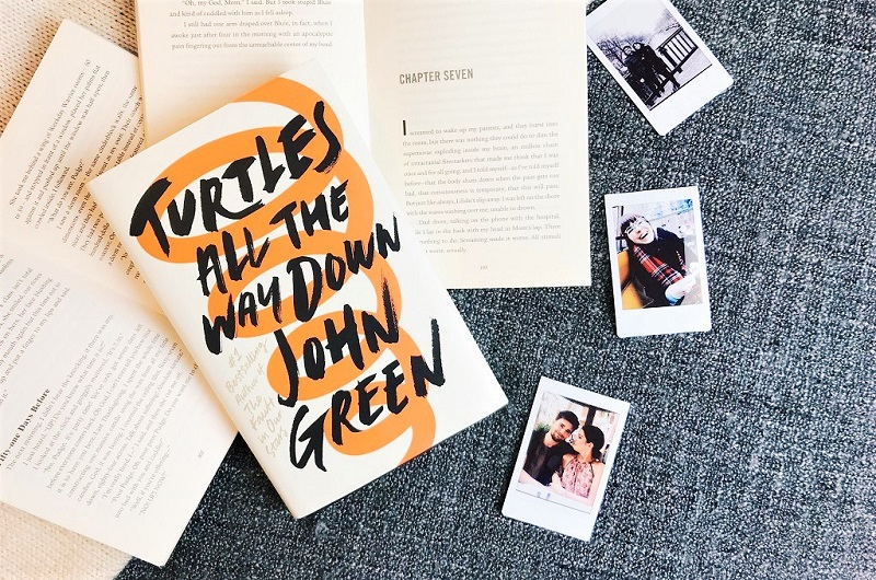 book review, turtles all the way down, john green, written by charlotte, polaroid