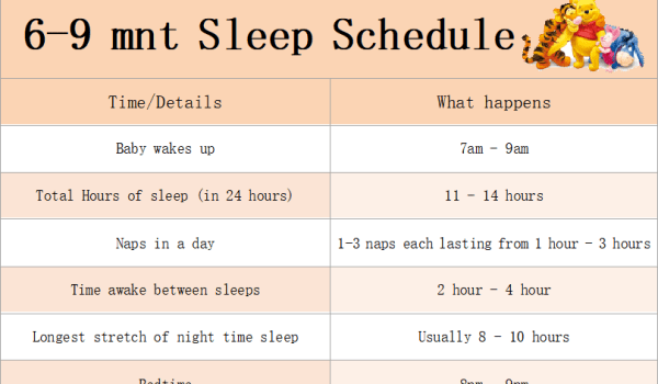 newborn baby sleep schedule 6-9 months