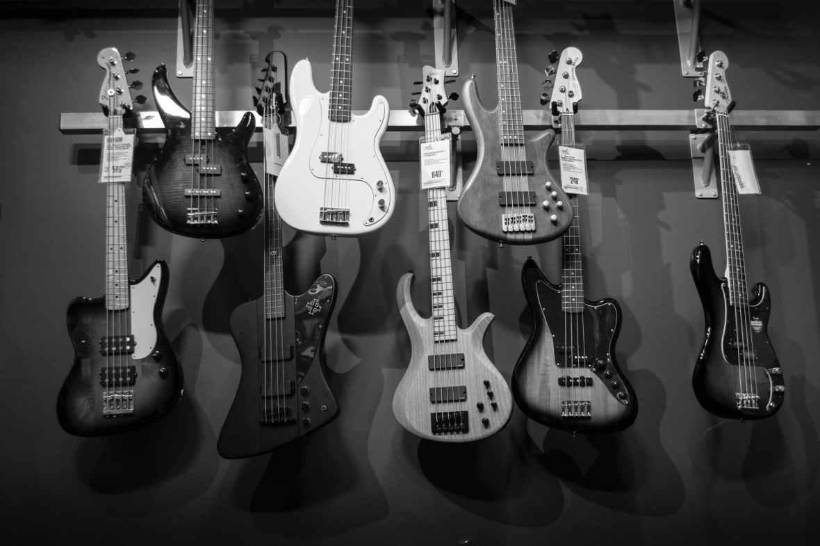 music white black guitar