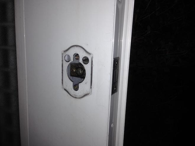 Entrance lock thumb turn2