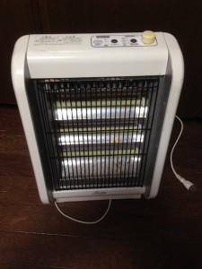 古い電気ストーブ