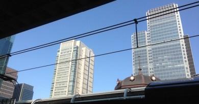 東京駅越しの丸の内ビルディング