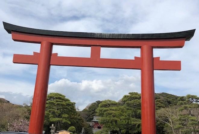 鶴岡八幡宮の鳥居
