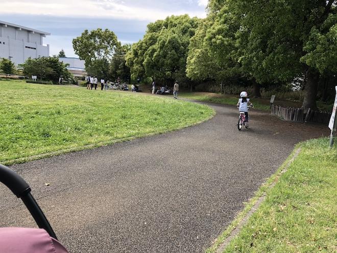 自転車特訓風景