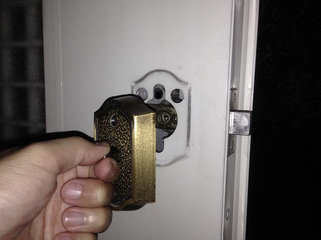 Entrance lock thumb turn5
