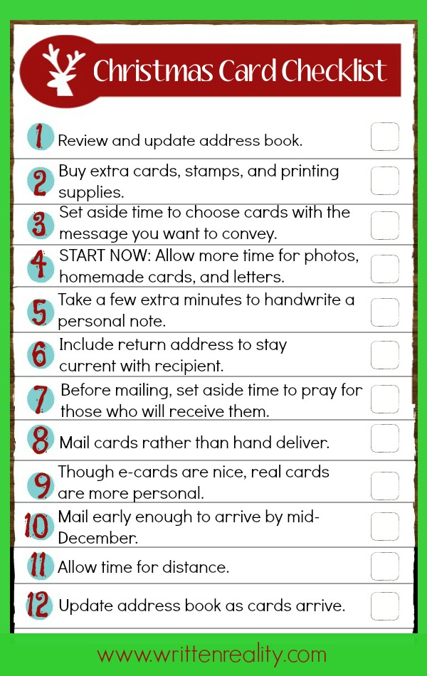 12 Best Tips For Sending Christmas Cards Written Reality