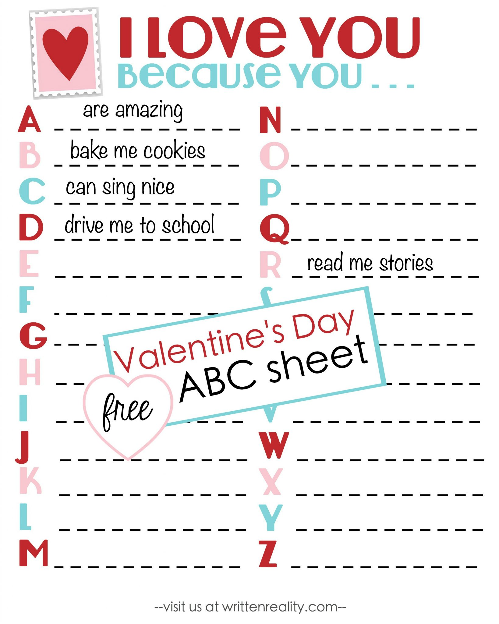 Celebrate Valentine S Day With A Free Abc Printable