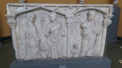 Grave frieze from very late Roman empire