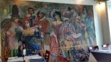 Painting in the restaurant