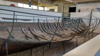 I believe this was one of the merchant ships, most of the belly is preserved