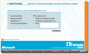 Non-attendee form