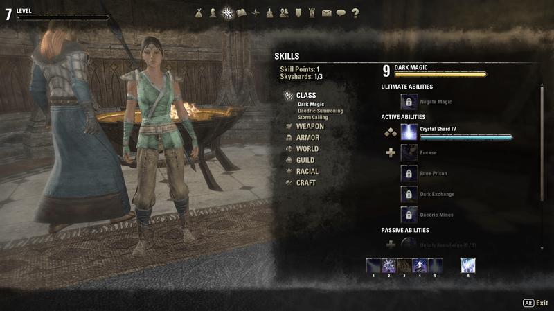 Elder Scrolls Online Skills Screenshot