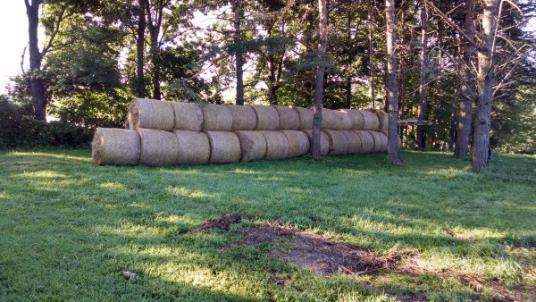 The upper hay pile.