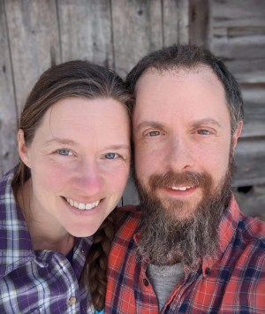 Rachel and Dave Perozzi, farmers at WDF.  Dave handles online orders for home delivery of our pastured meat.  Rachel manages the daily work with our grassfed beef herd.