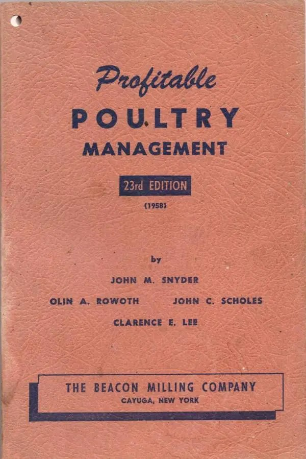Cover of the the book Profitable Poultry Management, in which I was surprised to learn just how deep is the connection between New York and pasture raised poultry.