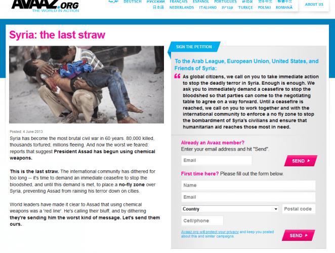 Avaaz Syria NoFlyZone