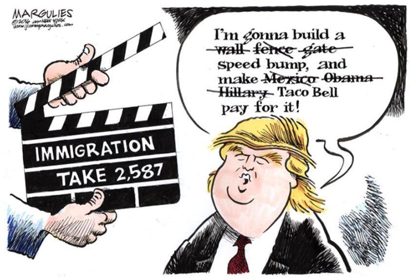 Image result for cartoons trump touch back amnesty