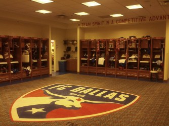 The locker room was so spacious that even Will Ferrell and John C. Reilly could appreciate it.