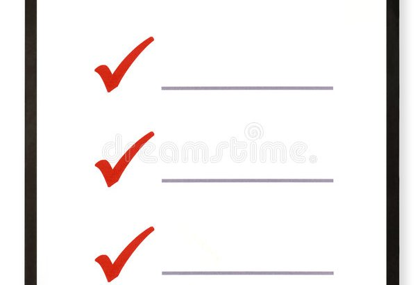 Clipart image of a checklist on a clipboard.