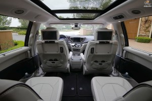 Photo showing the interior of a high end minivan.